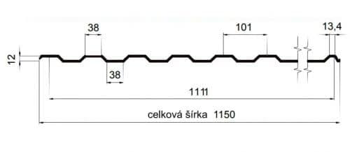 T12 – trapézový profil