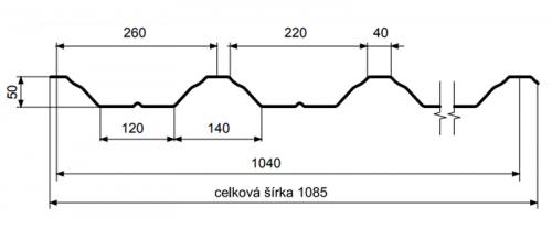 T50 – trapézový profil