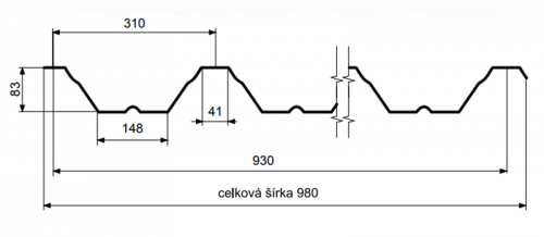 T85 – trapézový profil