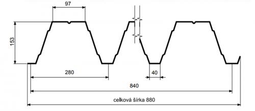 T153 – trapézový profil