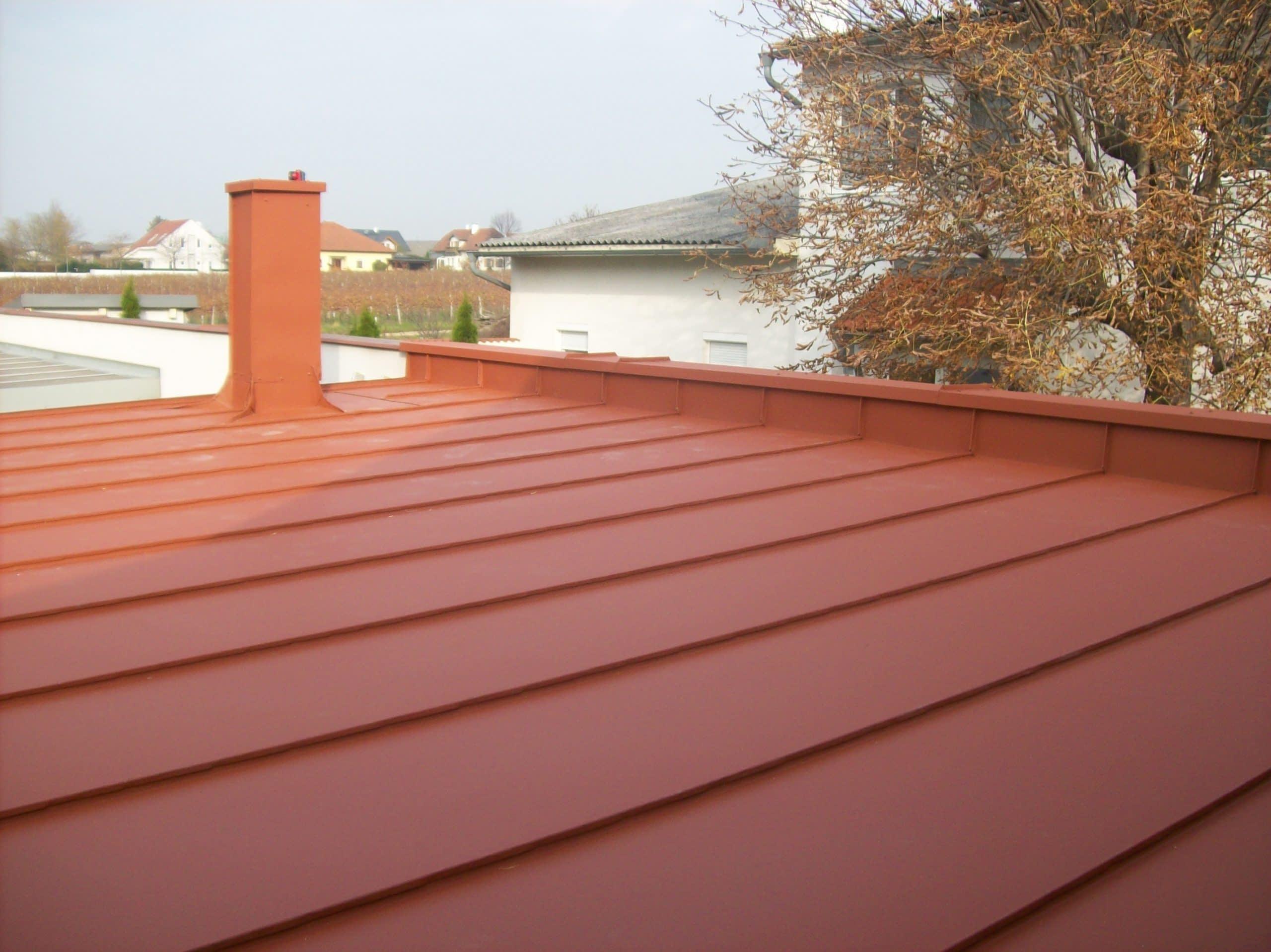Oplechovanie pultovej strechy